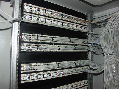Кроссирование и установка патч-панели в шкаф.